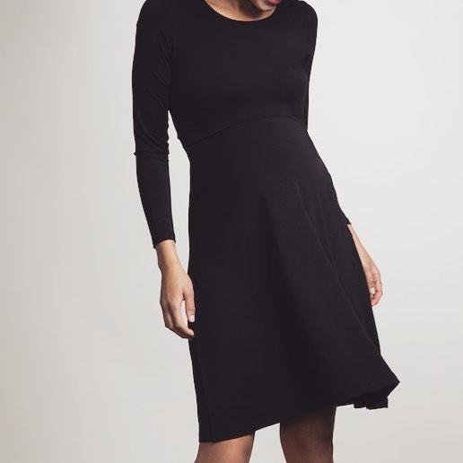 Vestido negro de vestir de premamá