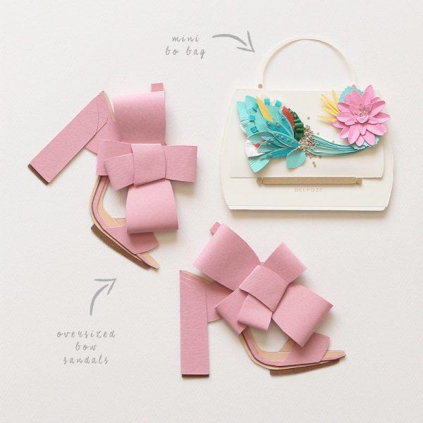Sandalias hechas de papel por Brittani Rose