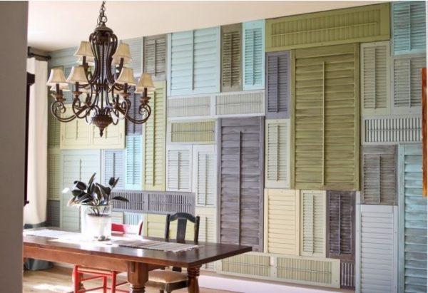 decoración con puertas recicladas