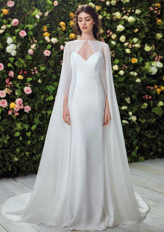 vestidos de novia con capa que elegiría hasta superwoman - muymolon