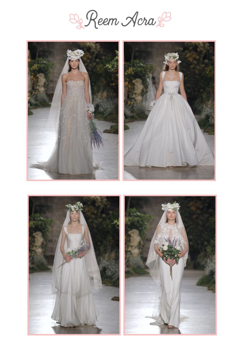 Vestidos de novia de Reem Acra