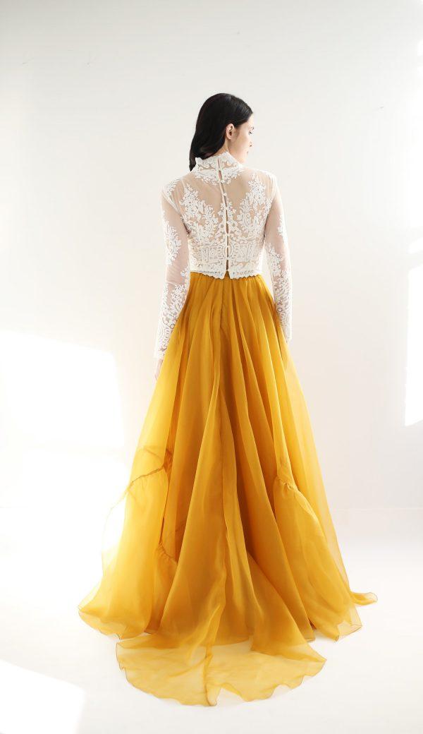 Vestido de novia amarillo