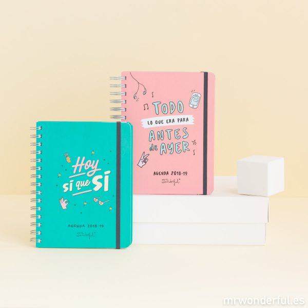 Agendas escolares rotu de Mr. Wonderful