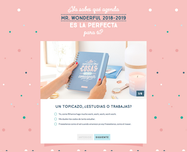 Nuevas agendas de Mr. Wonderful