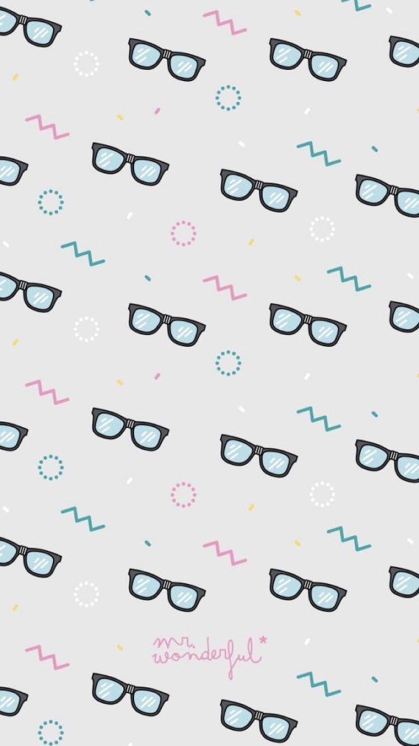 Fondos de pantalla para móvil con diseño de gafas modernas