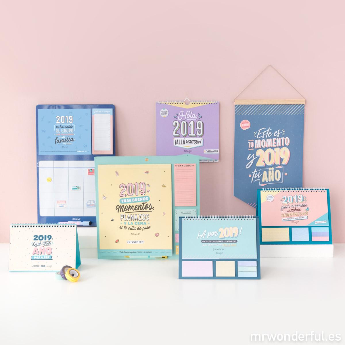 Escoge Tu Calendario 2019 Mr Wonderful Tenemos El Que Más Se