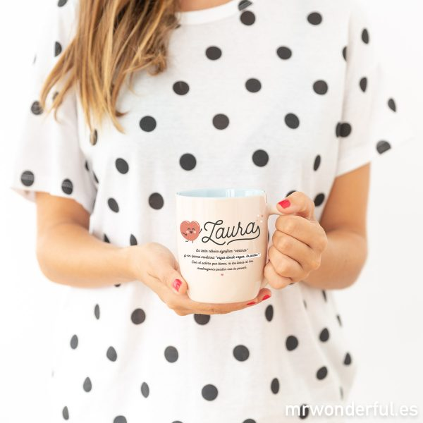 Taza Mr. Wonderful para regalar a tu Laura preferida