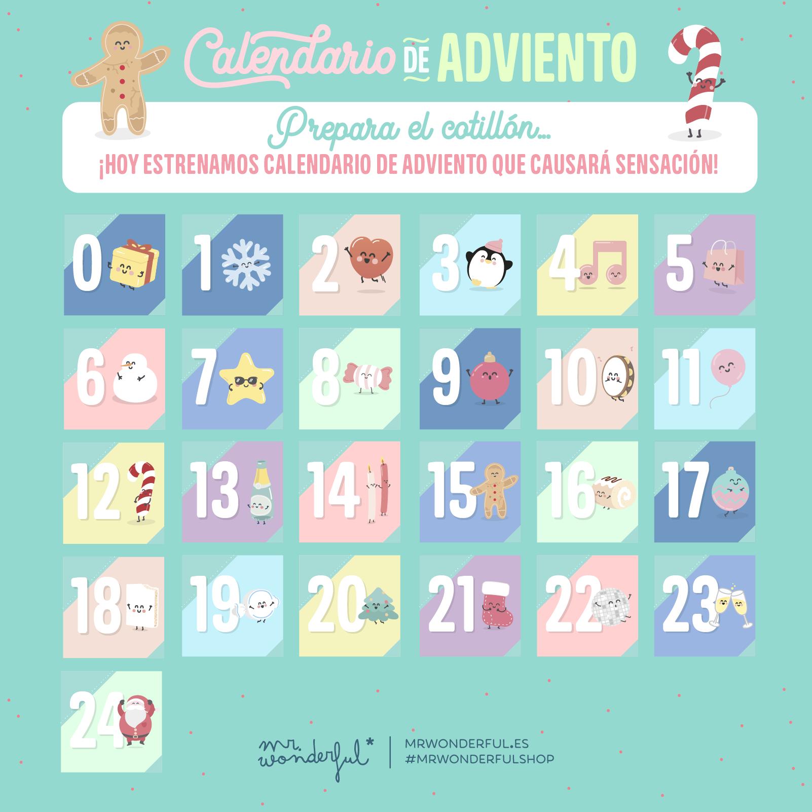 Calendario Adviento 2020.Hoy Empieza Nuestro Calendario De Adviento Mr Wonderful Y Te