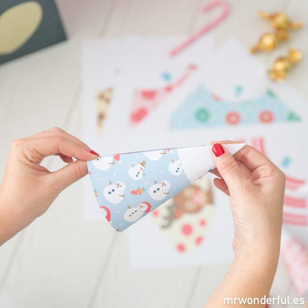 Calendario de adviento DIY para decorar la casa en Navidad