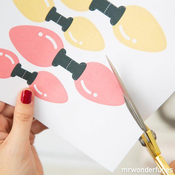 Luces de papel para envolver regalos
