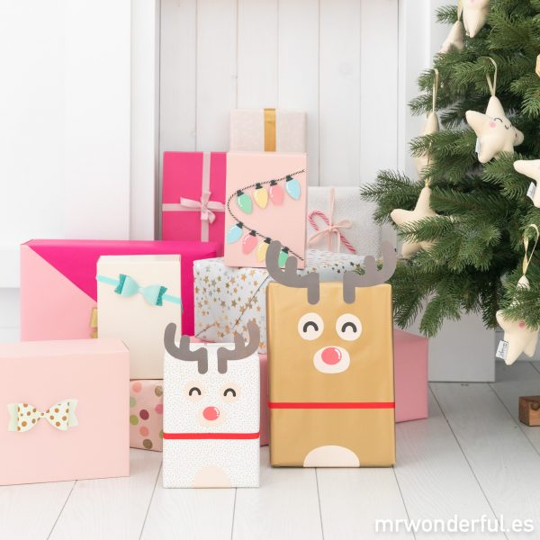 Ideas diy para envolver regalos divertidos de Navidad