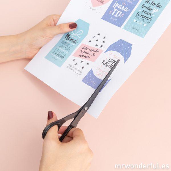 Etiquetas para regalos para personalizar tus detalles para mamá