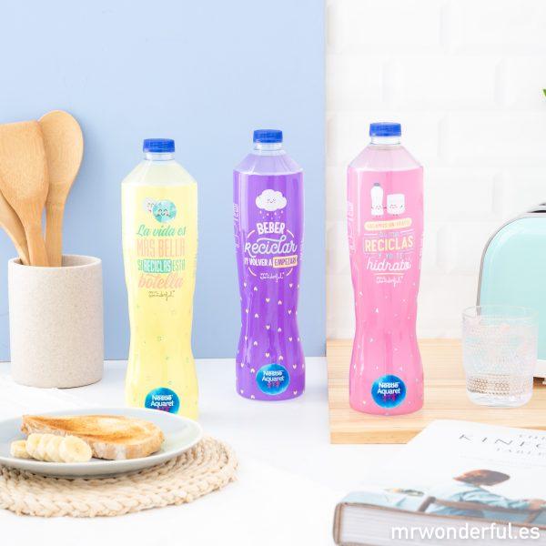 Botellas sostenibles de Aquarel