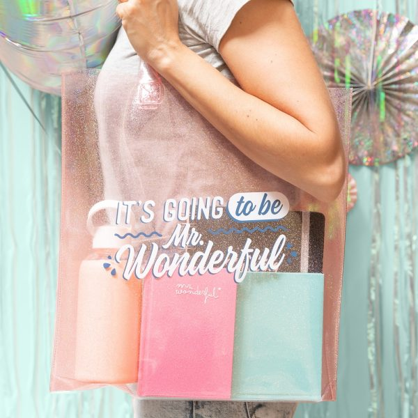 Bolsa transparente para el verano de Mr. Wonderful
