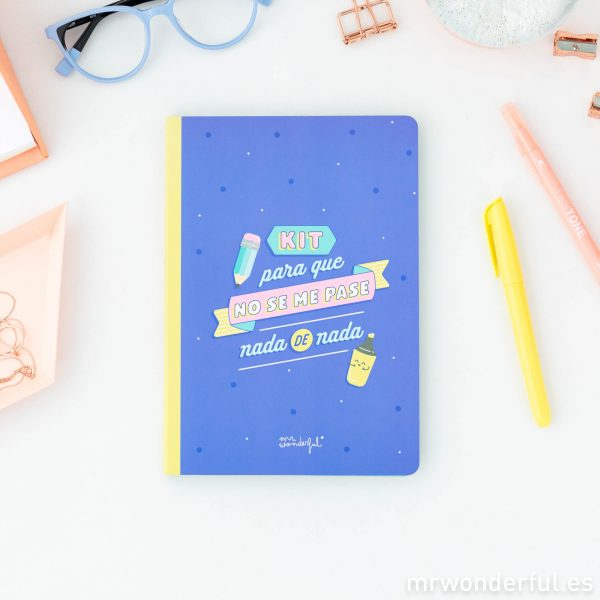 Libreta con pegatinas para apuntes Mr. Wonderful