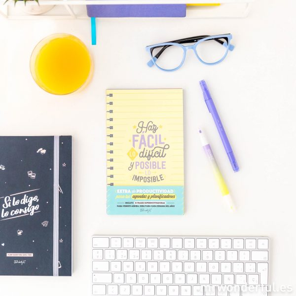 Organizador semanal agenda Mr. Wonderful