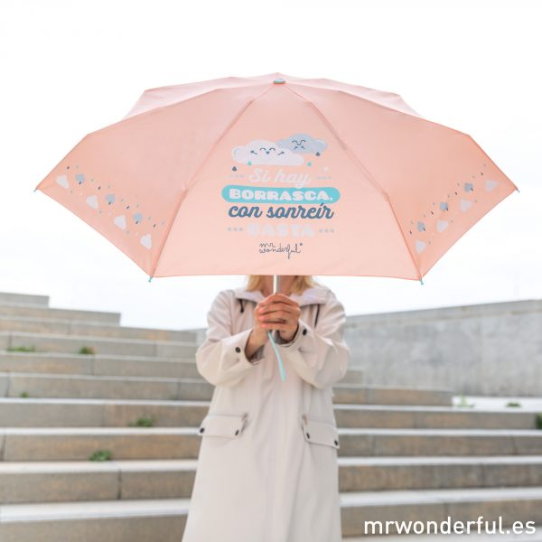 Paraguas automáticos con mensaje Mr. Wonderful