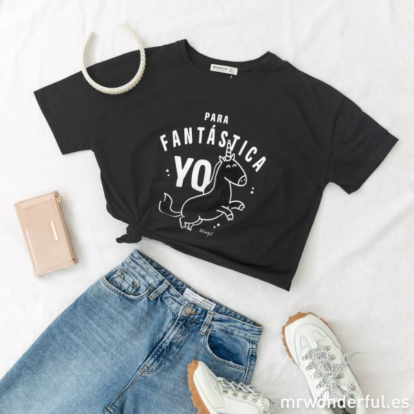 Camiseta manga corta Mr. Wonderful Stradivarius mensaje motivador moda juvenil femenina fashion