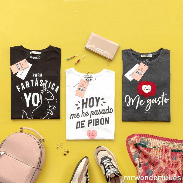 Camisetas manga corta Mr. Wonderful Stradivarius mensajes motivadores moda juvenil femenina tendencia fashion corazón unicornio