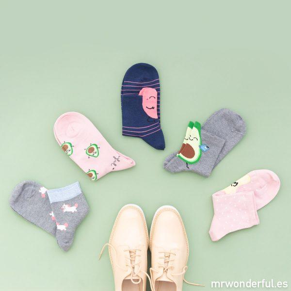 Calcetines mujer hombre niños aguacate corazón unicornio formas Mr. Wonderful Calzedonia