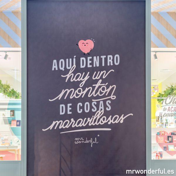 Tienda física Mr. Wonderful parque sur Madrid inauguración regalos originales frases motivadoras