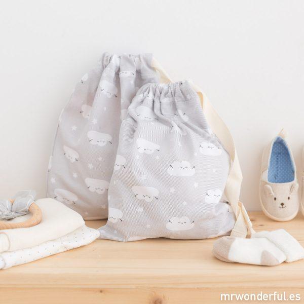 Bolsitas de tela de Fundas bcn para llevar la muda del bebé