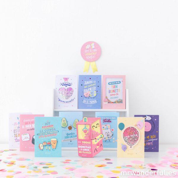 Postales de cumpleaños y mucho más felicitaciones Mr. Wonderful novedades fiestas regalo