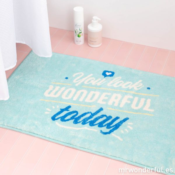 Alfombrilla para el baño con mensaje