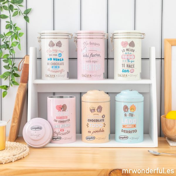 Productos de la colaboración de Mr. Wonderful y Lacasa