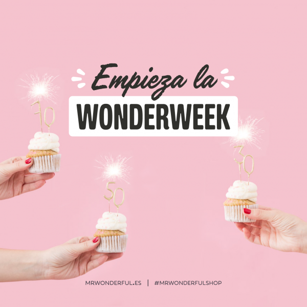 Descuentos del 30 %, 50 % y 70 % en Mr. Wonderful durante la Wonderweek