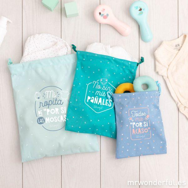 Bolsas de viaje, uno de los regalos originales para bebés más buscados