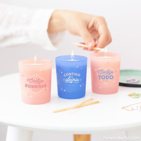 Set de velas de San Valentín