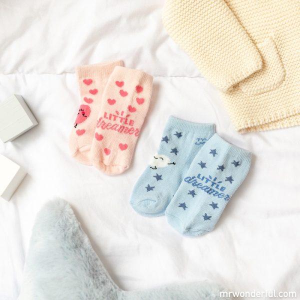 Calcetines antideslizantes bebé de la nueva colección de pijamas premamá y ropa de bebé de Mr. Wonderful para Prénatal