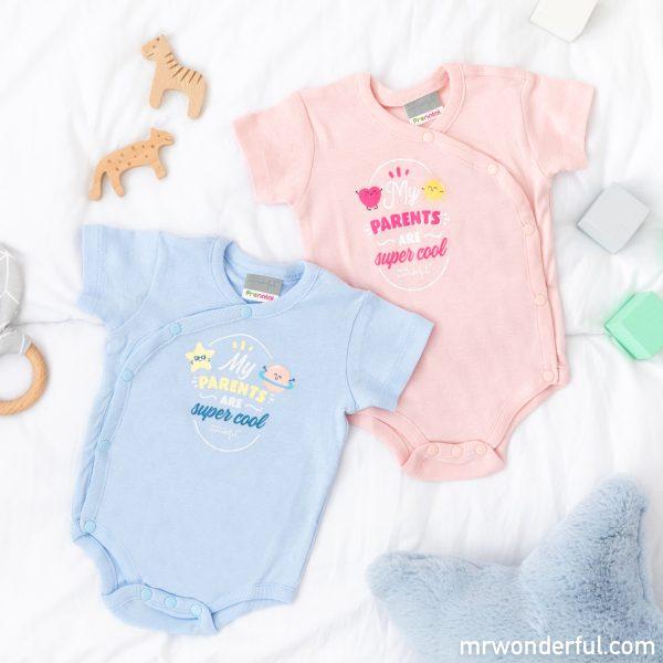 Body de manga corta para bebé de la nueva colección de pijamas premamá y ropa de bebé de Mr. Wonderful para Prénatal