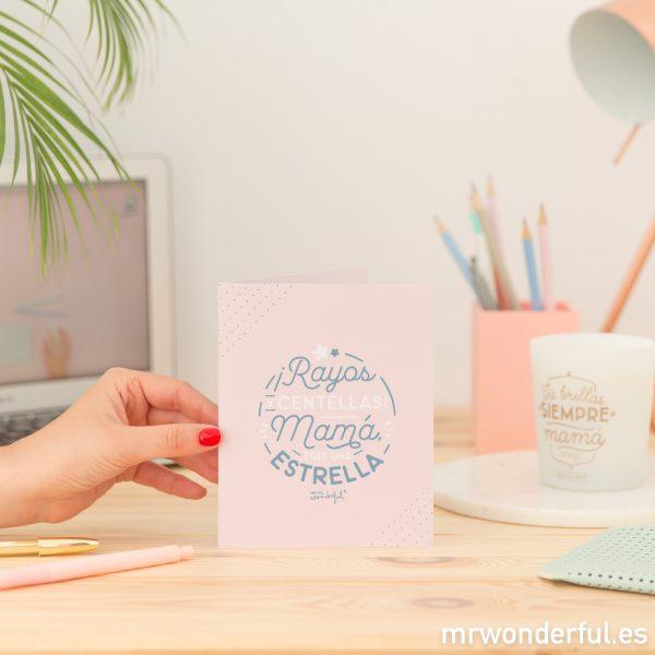 Tarjeta para rellenar y acompañar los regalos para mamá