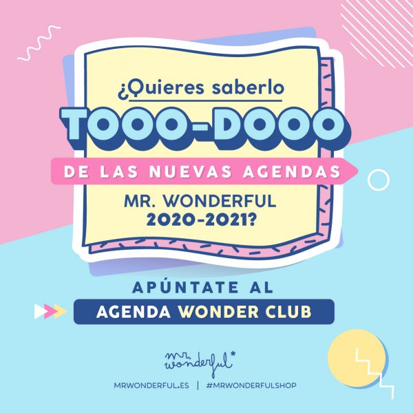 Ya está aquí el Agenda Wonder Club