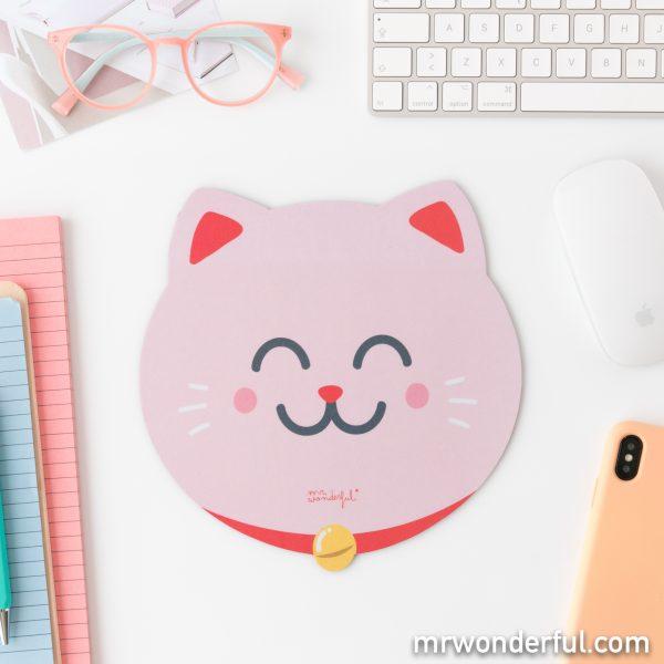 Alfombrilla en forma de gato de la colección de gadgets tecnológicos de Mr. Wonderful 2020