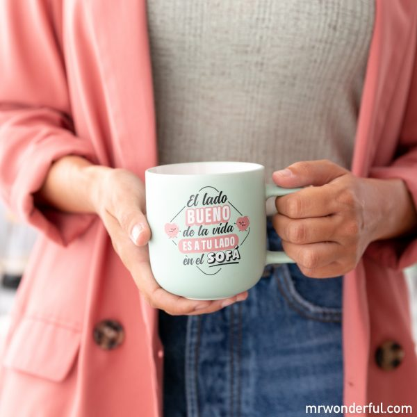 Taza Mr. Wonderful con mensaje de amor