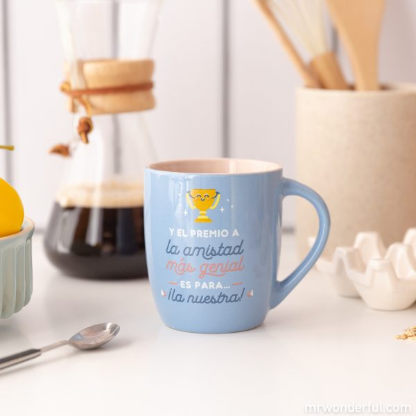 Taza amistad Mr. Wonderful premio