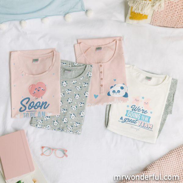 Pijamas premamá de Prenatal by Mr. Wonderful