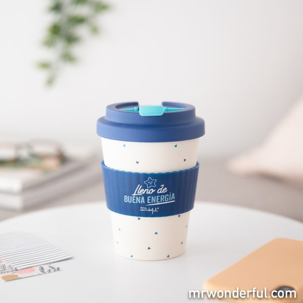 Taza take away de Mr. Wonderful con mensaje