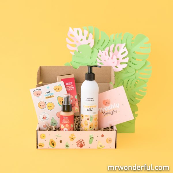 Caja perfecta para regalar de la nueva edición de Freshly Cosmetics by Mr. Wonderful.